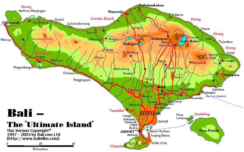 Bali Karte Canggu.Bali Ubud